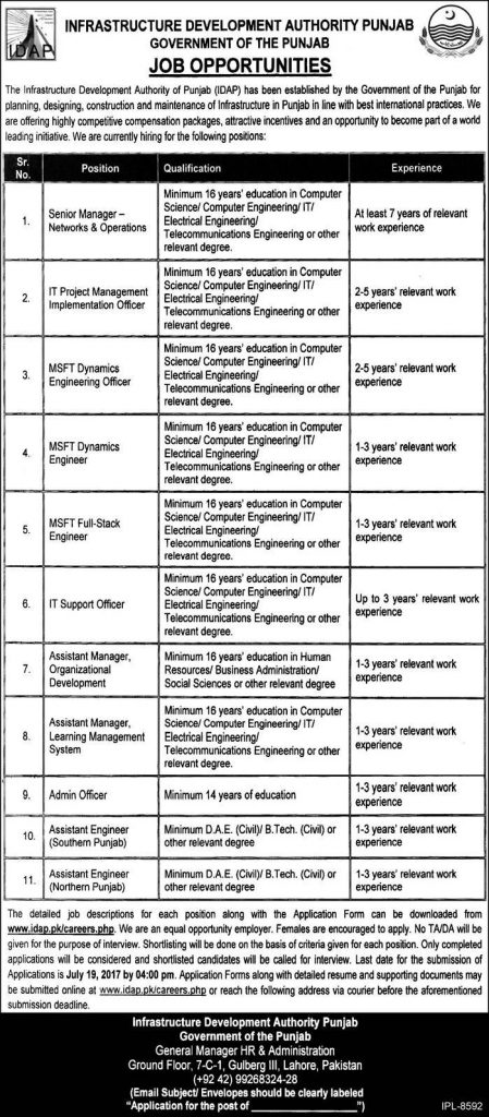 Image of Infrastructure Development Authority Jobs Advertisement