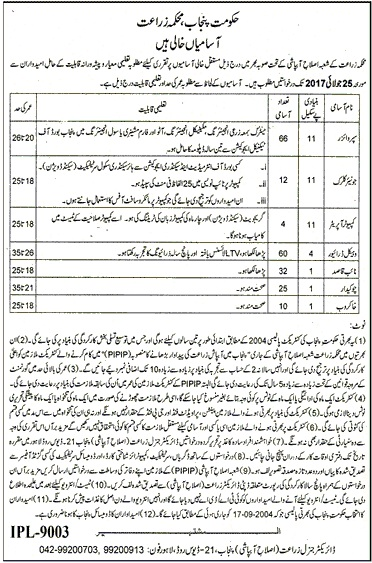 PIPIP Agriculture Jobs advertisement